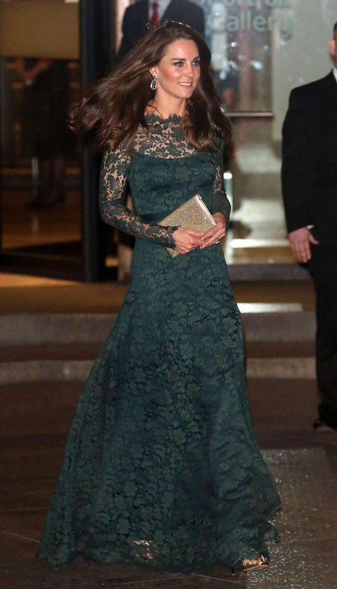 Kate Middleton at Portrait Gala 2017 Fundraising Dinner in London