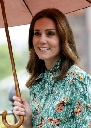 Kate Middleton at Sunken Garden at Kensington Palace in London