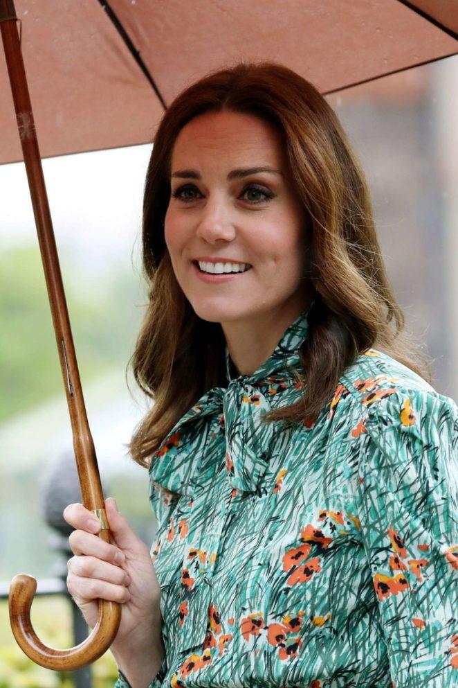 Kate Middleton at Sunken Garden at Kensington Palace in London