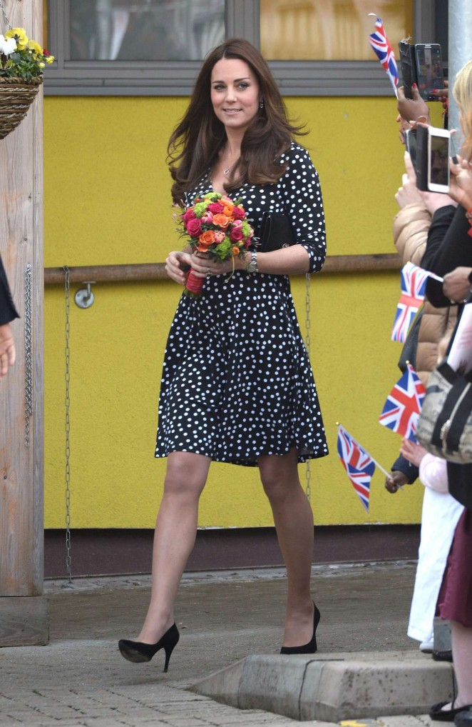 Kate Middleton at the Brookhill Children's Centre in London