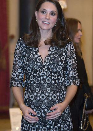 Kate Middleton at The Commonwealth Fashion Exchange Reception in London