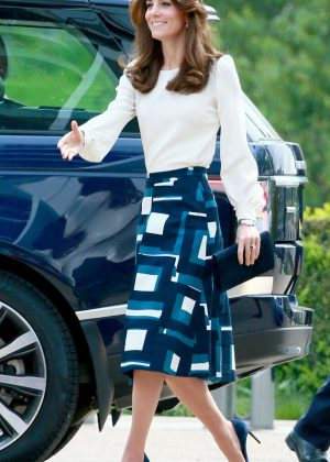 Kate Middleton at the Olympic Park in London