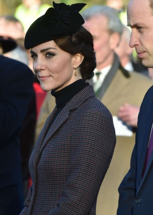 Kate Middleton at the Sandringham Memorial Cross in Norfolk