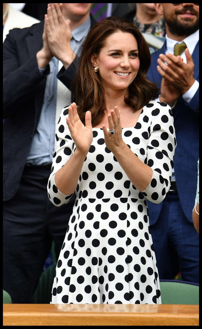 Kate Middleton at Wimbledon Tennis Championships 2017 in London
