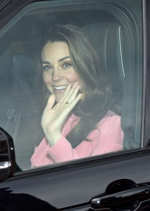 Kate Middleton - Attend the Queen's Christmas Lunch in London