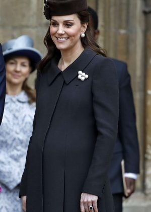 Kate Middleton - Attends an Easter Service in Windsor
