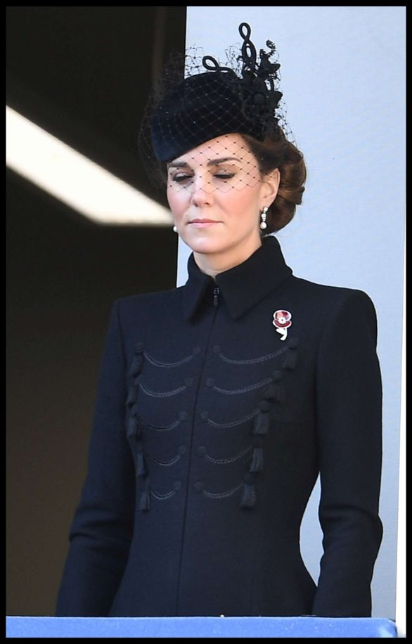 Kate Middleton - Attends the annual Remembrance Sunday Memorial in London