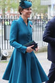 Kate Middleton - Attends the ANZAC Day Service of Commemoration and Thanksgiving in London