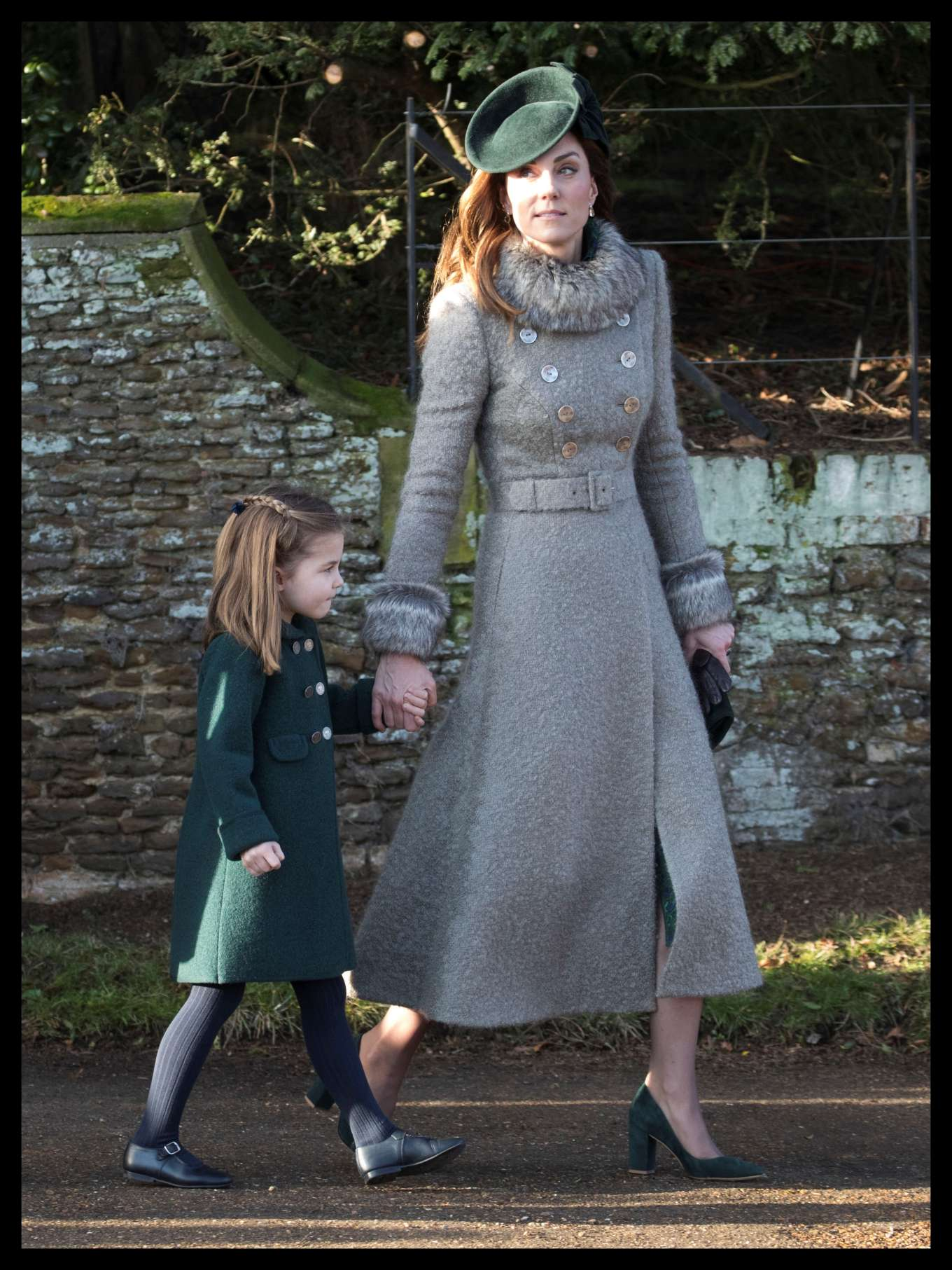 Kate Middleton - Attends the Christmas Day Church Service in King's Lynn