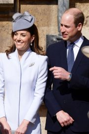 Kate Middleton - Attends the traditional Easter Sunday church service in Windsor