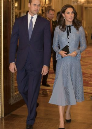 Kate Middleton - Celebrating World Mental Health Day with a reception at Buckingham Palace