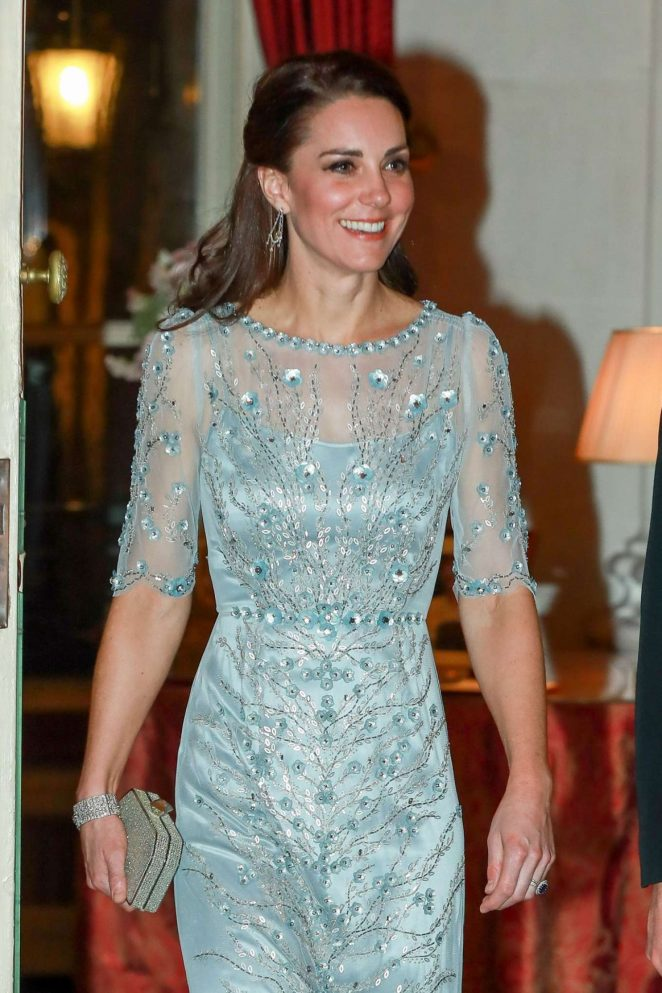 Kate Middleton - Dinner at British Embassy in Paris