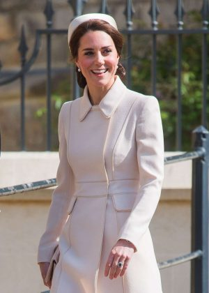 Kate Middleton - Easter Sunday Church Service in Windsor