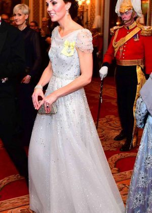 Kate Middleton - Evening reception for members of the Diplomatic Corps in London