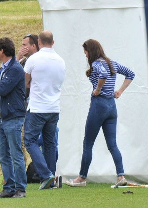 Kate Middleton in Jeans at Festival of Polo in Gloucestershire