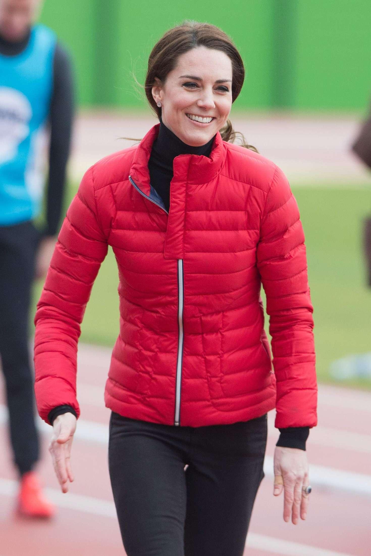 Kate Middleton London Marathon Training Day In London