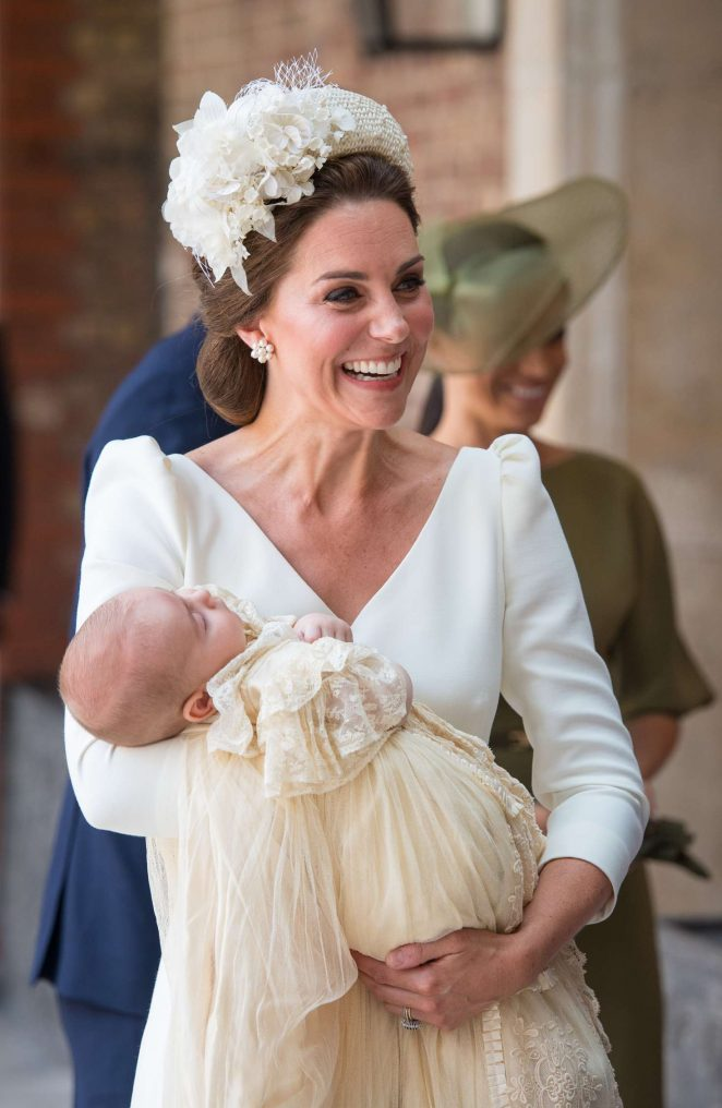 Kate Middleton Meghan Markle Prince Harry and Prince William - Prince Louiss christening at St Jamess Palace in London