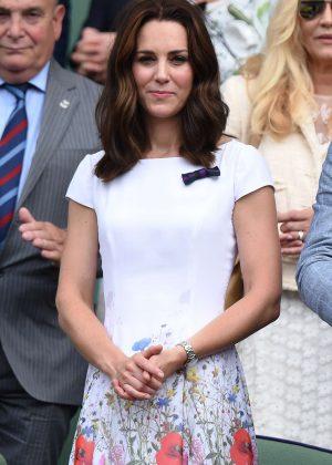 Kate Middleton - Mens Singles Final at Wimbledon Tennis Championships in London