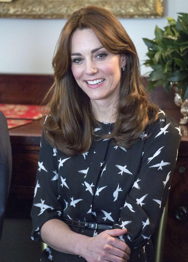 Kate Middleton - Met with Jonny Benjamin and Neil Laybourn in London