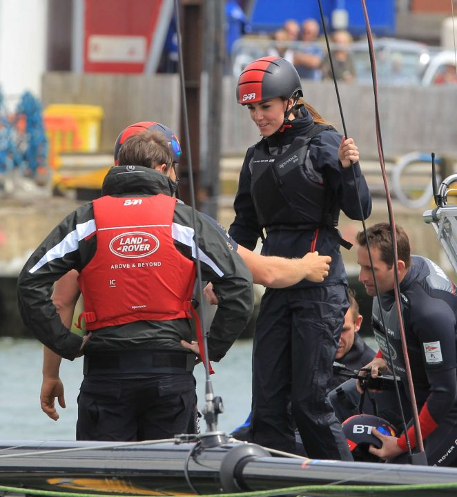 Kate Middleton On a training trip on the T1 development boat in Portsmouth