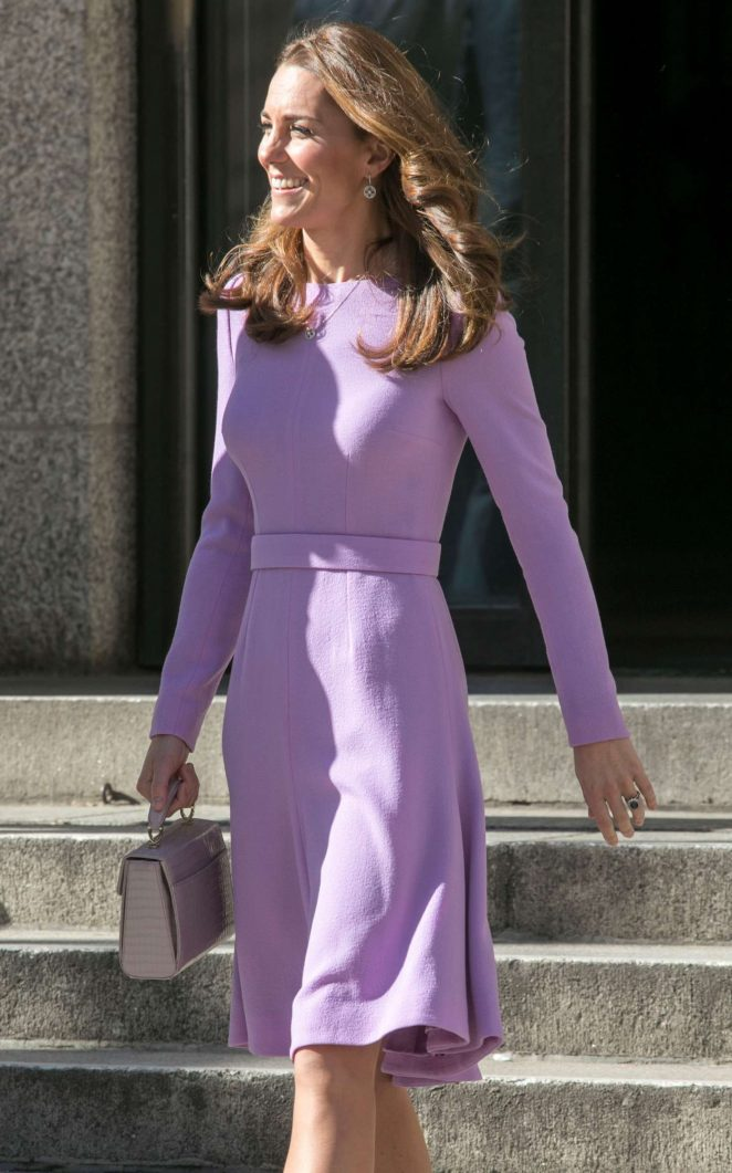 Kate Middleton - Outside the first Global Ministerial Mental Health Summit in London