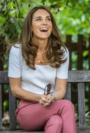 Kate Middleton - Pictured at a meeting with parents to discuss the pandemic in London