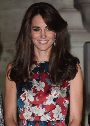 Kate Middleton in Floral Dress at V&A Museum in London