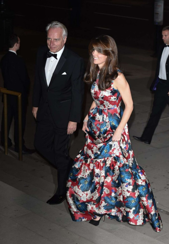 Kate Middleton in Floral Dress -19