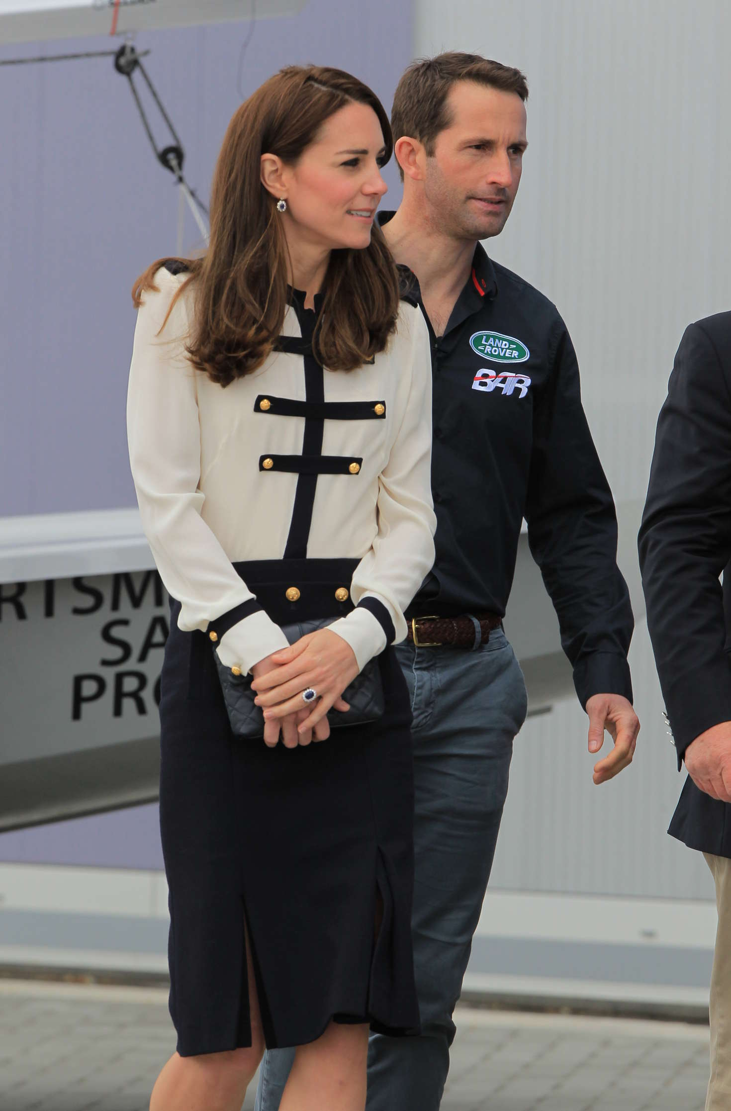 Kate Middleton Visit The Crew Of Bar Land Rover America