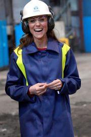 Kate Middleton - Visit to Tata Steel in Port Talbot Wales