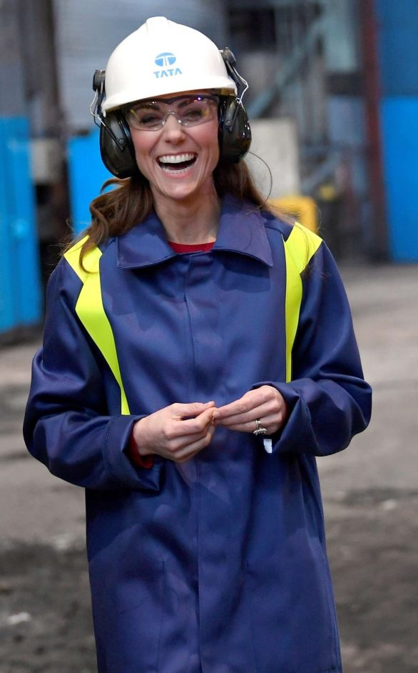 Kate Middleton - Visit to Tata Steel in Port Talbot Wales