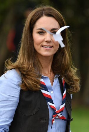 Kate Middleton - Visits a Scout Group in Northolt - Northwest London
