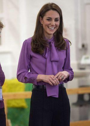 Kate Middleton - Visits Henry Fawcett Children's centre in London