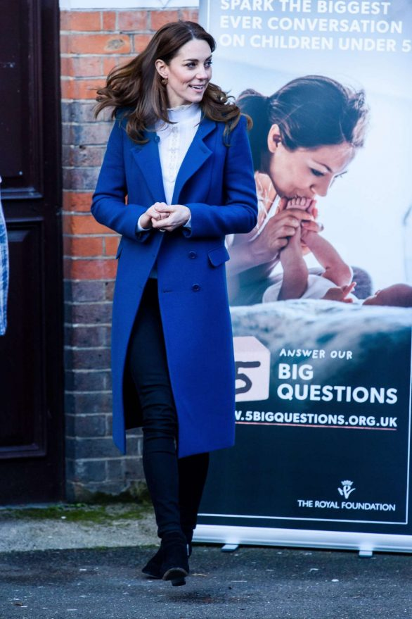 Kate Middleton - Visits Leyf Stockwell Gardens Nursery in London