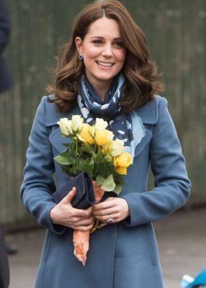 Kate Middleton - Visits Roe Green Junior School in London