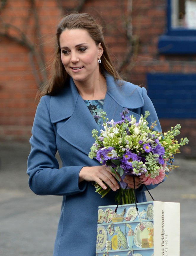 Pregnant Kate Middleton - Visits the Emma Bridgewater Factory in Trent