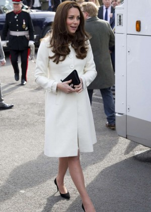Kate Middleton - Visits the set of 'Downton Abbey' at Ealing Studios in London