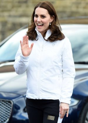 Kate Middleton - Visits the Wimbledon Junior Tennis Initiative in Mitcham