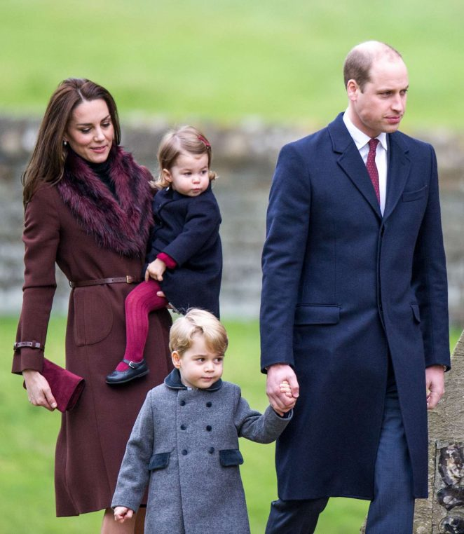 Kate Middleton with her family out in Berkshire