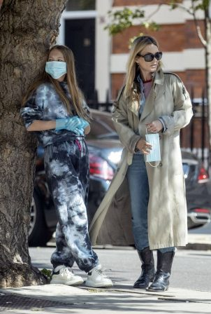Kate Moss and daughter Lila Grace - Out in London