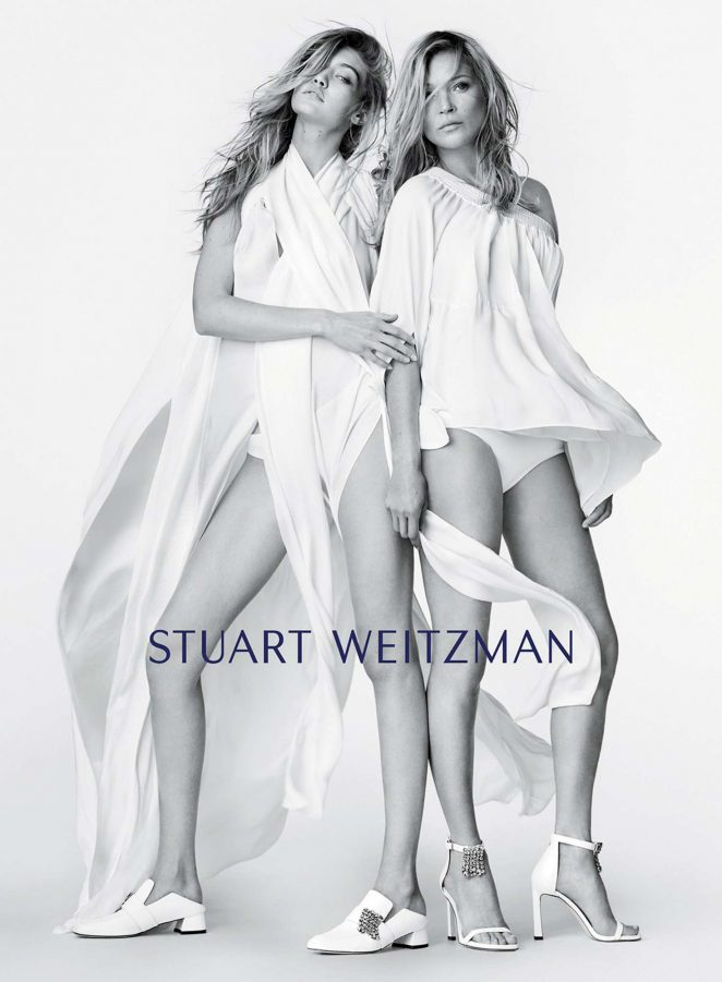 Kate Moss and Gigi Hadid for Stuart Weitzman New Campaign 2018