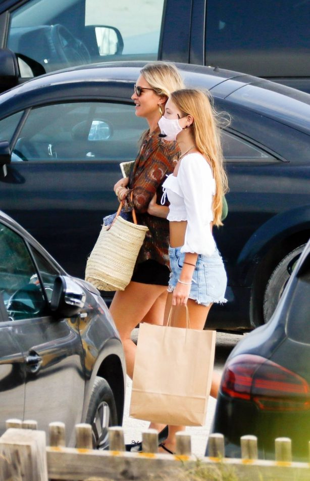 Kate Moss and Lila Grace and Rita Ora - Out for a lunch in Ibiza