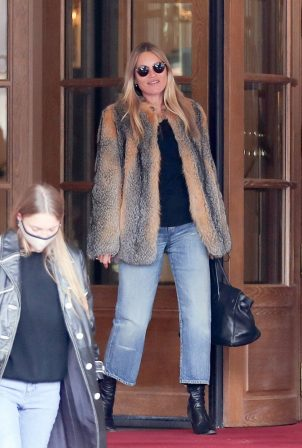Kate Moss and Lila Grace Moss - Pictured at the luxurious Ritz Hotel in Paris