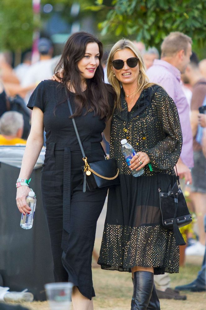 Kate Moss and Liv Tyler at Summer Time Festival in London