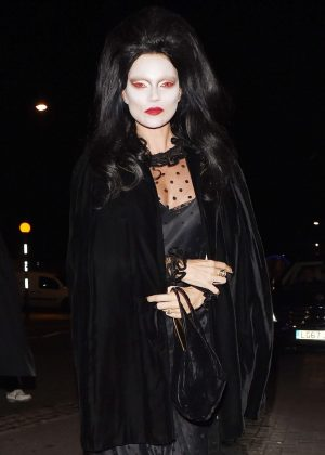 Kate Moss and Nikolai von Bismarck - Arriving at LAYLOW Halloween Party in London