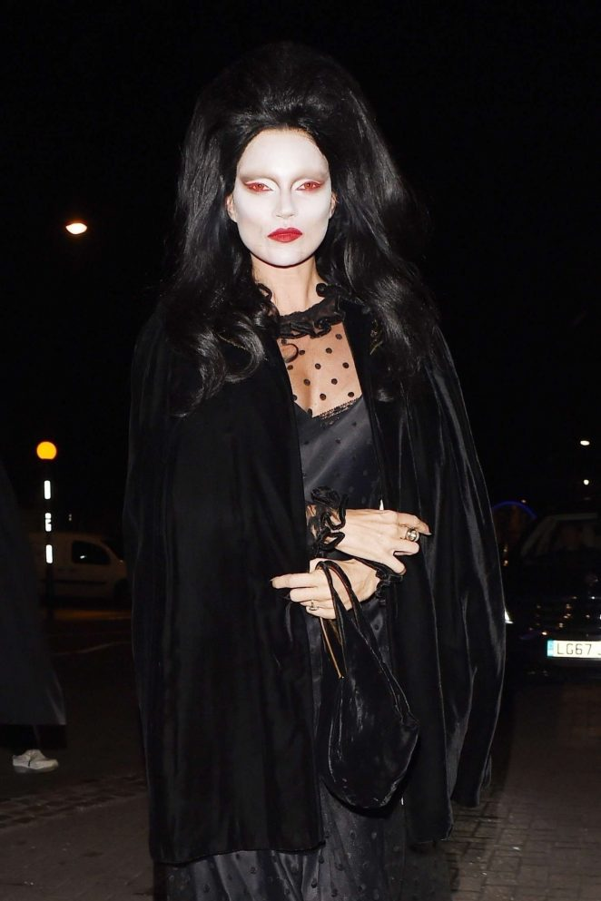 Kate Moss and Nikolai von Bismarck – Arriving at LAYLOW Halloween Party in London