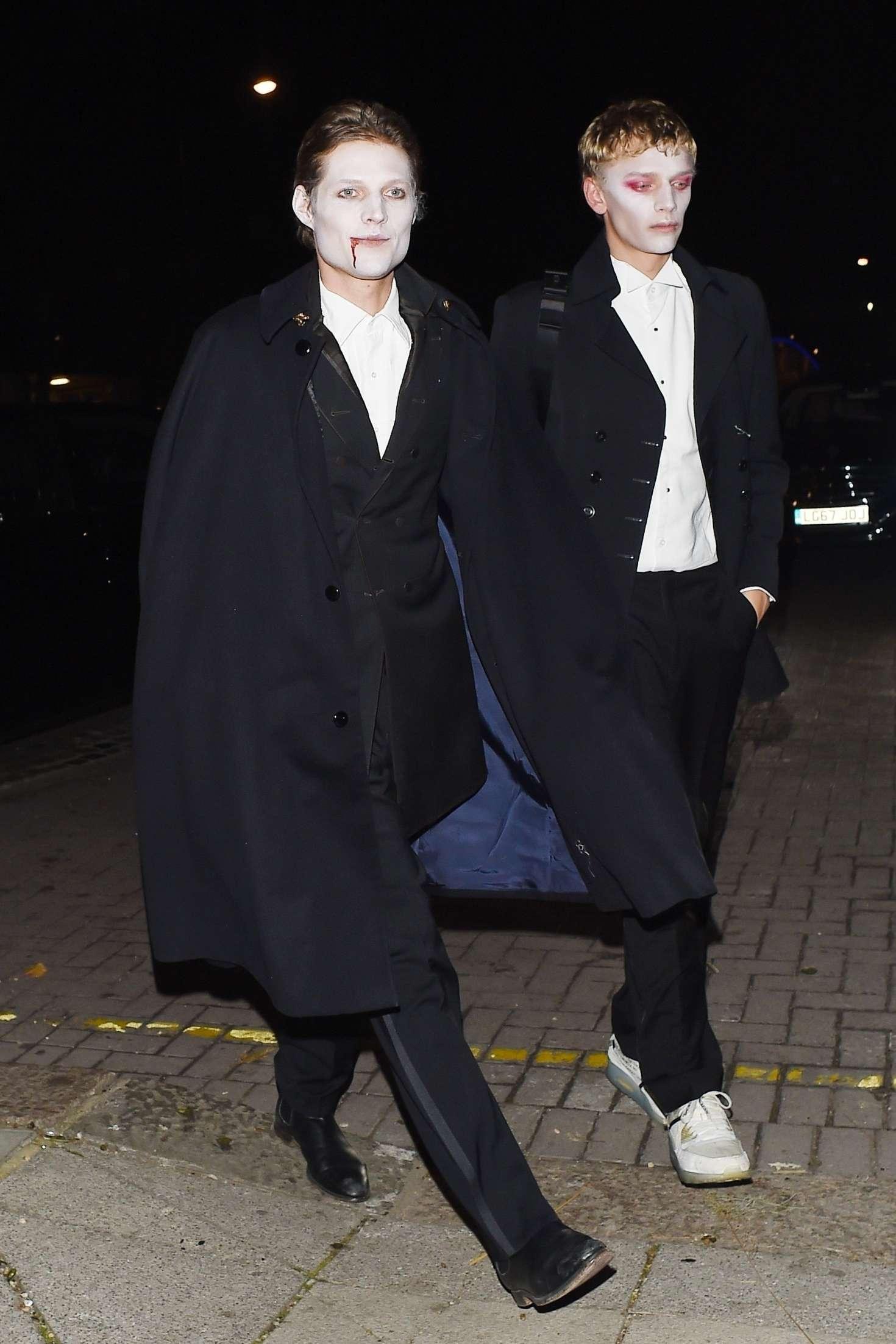 Bismarck Halloween Party 2020 Kate Moss and Nikolai von Bismarck: Arriving at LAYLOW Halloween