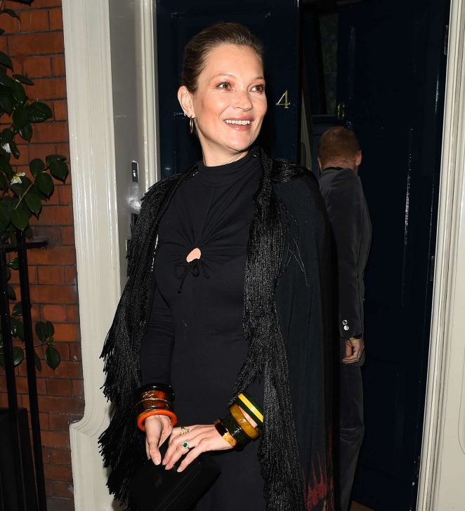 Kate Moss - Arrives at Mark's Club for a Vogue Dinner in London