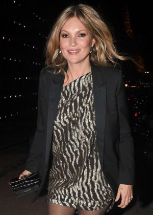 Kate Moss - Arrives at YSL Fashion Show in Paris