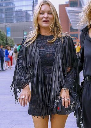 Kate Moss - Arriving at the Longchamp Fashion Show in NY